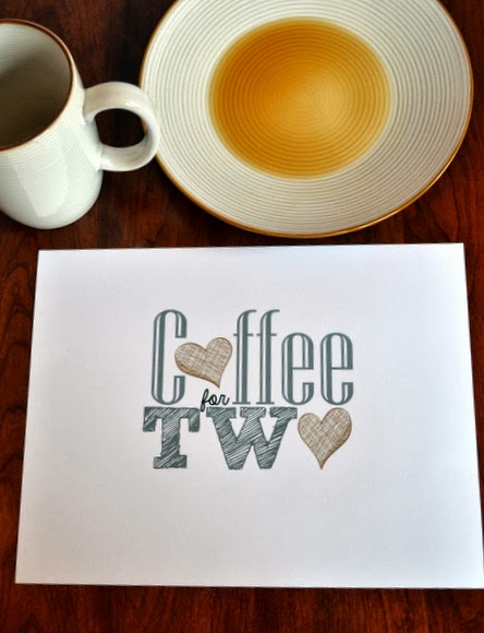 coffee for two free printable
