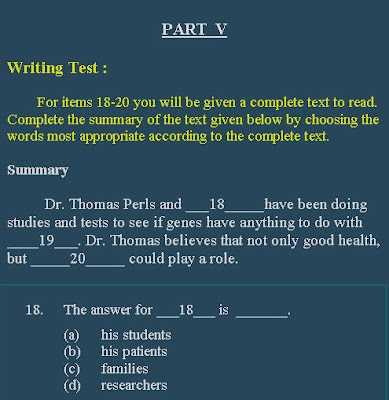 อยู่เชียงใหม่มาทดสอบภาษาอังกฤษกับ CMU-eTEGS และมาดูตัวอย่างข้อสอบกัน