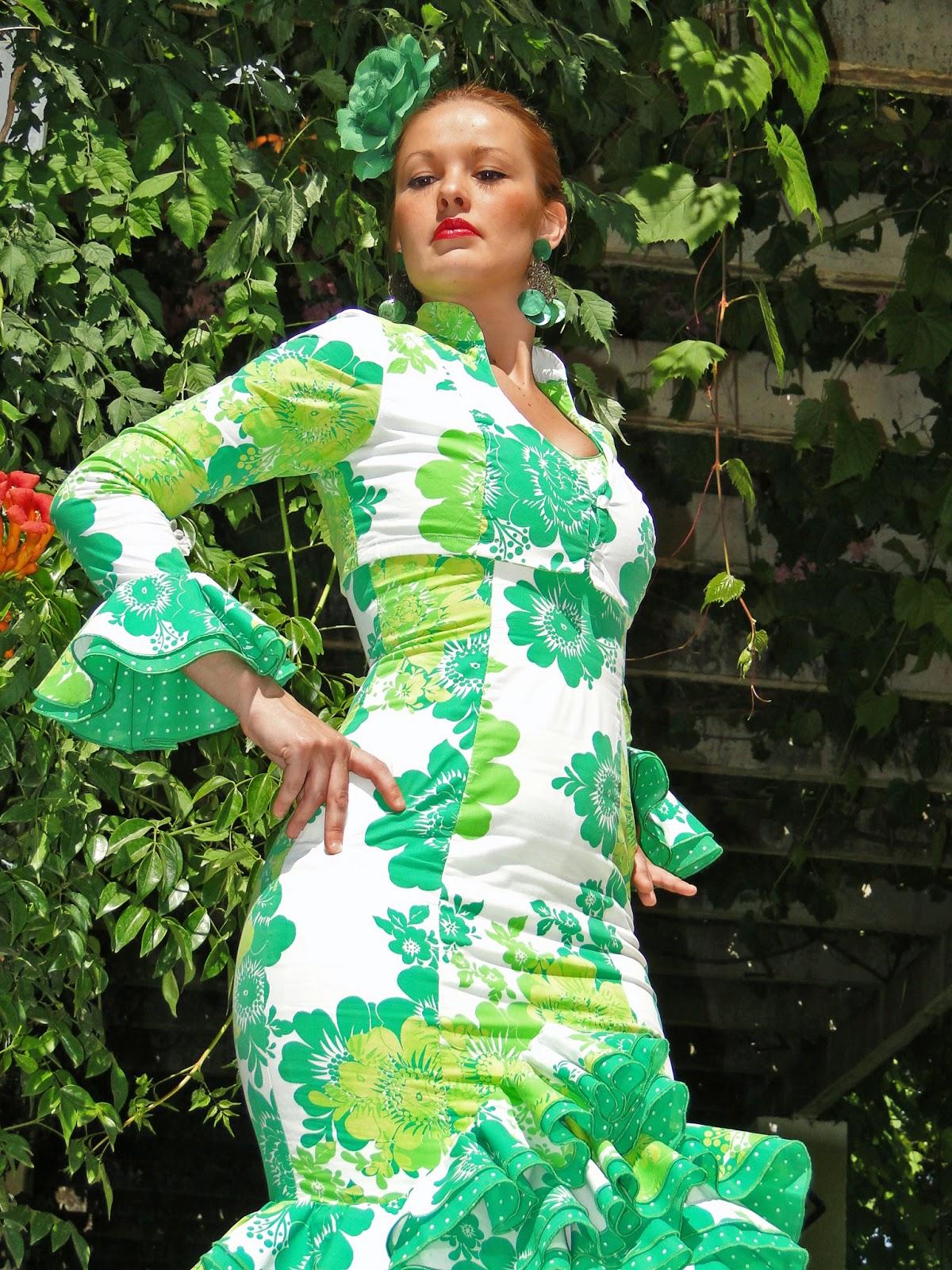 Traje de flamenca verde
