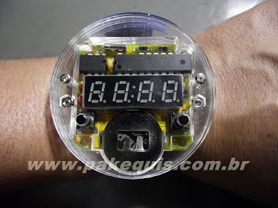 Kit de relógio de pulso digital montado