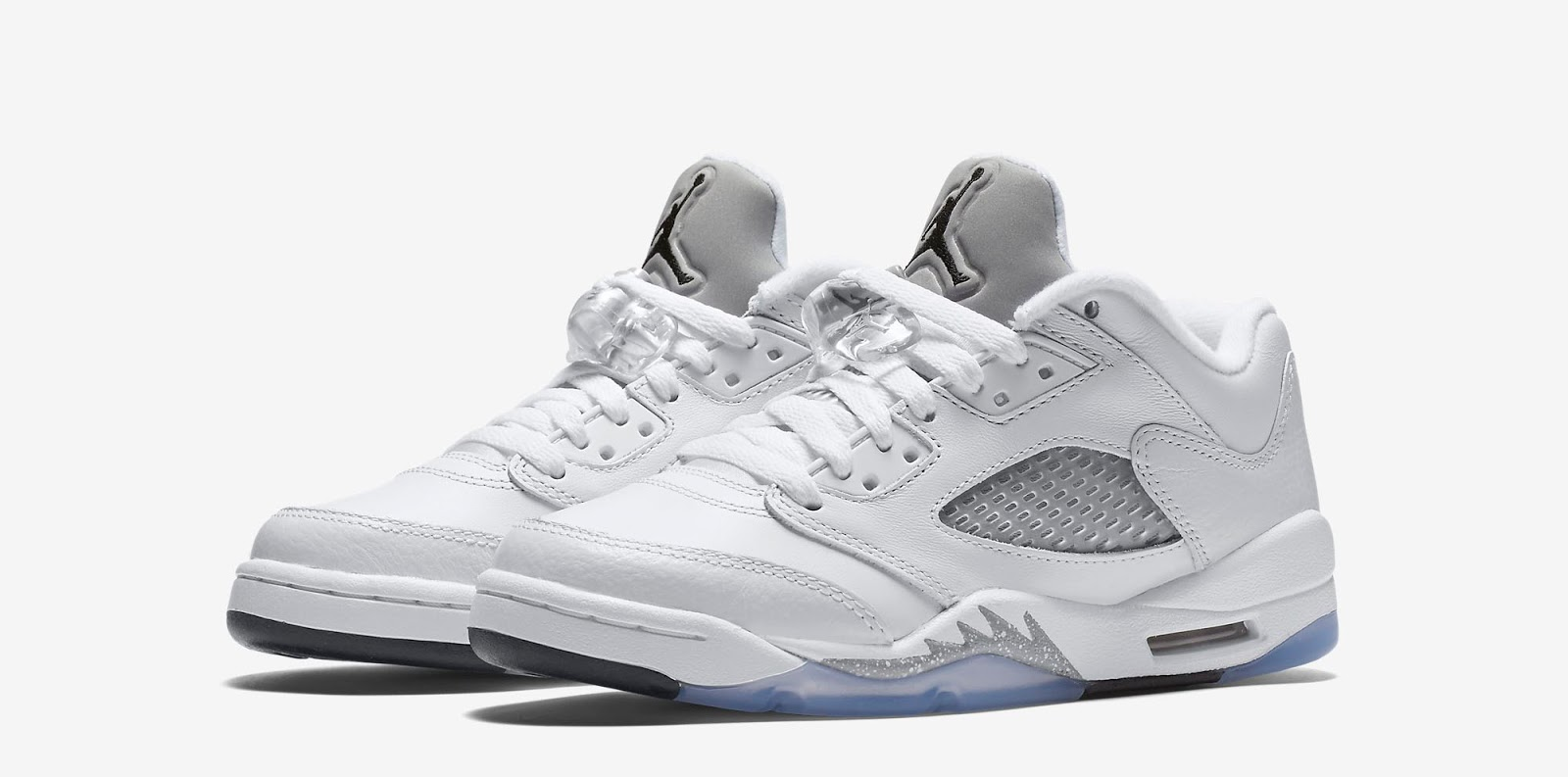 huge selection of bf4aa f933d Last seen in low-top form in 2006 when they released in women s sizes, this  Girls Air Jordan 5 Retro Low GG comes in a white, black and wolf grey  colorway.