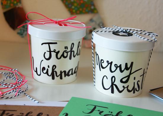 binedoro Blog, Handlettering, Brushlettering, Geschenkverpackung, Verpackung, Grußkarte, DIY, #miomodokreativteam