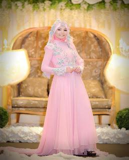 gaun pengantin muslimah artis