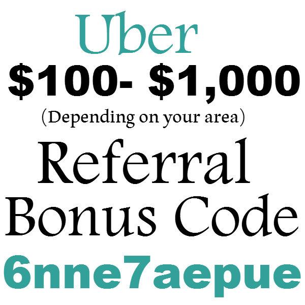 $100 Uber Referral Bonus Code 2019, Uber Invite Code Orlando, Nashville, Columbus, FL, TN, CA, GA, NC, NY, AL