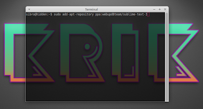 sudo add-apt-repository ppa:webupd8team/sublime-text-3