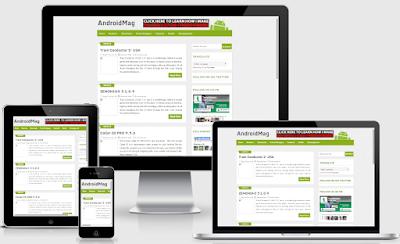 Android Mag - Template Blog Responsive untuk Majalah HP Gratis Download