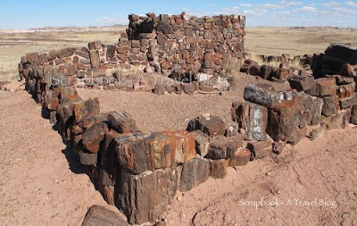 Agate House at Petrified Forest National Park Arizona