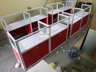 Cubicle Workstation Meja Partisi Kantor Lurus - Furniture Semarang