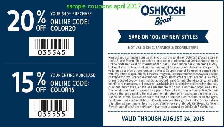 osh kosh coupons online