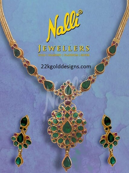 Emerald Ruby Saradu Necklace