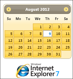 jQuery UI DatePicker, IE 7 and an extra comma   jQuery By