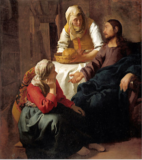 Jesus with Martha and Mary