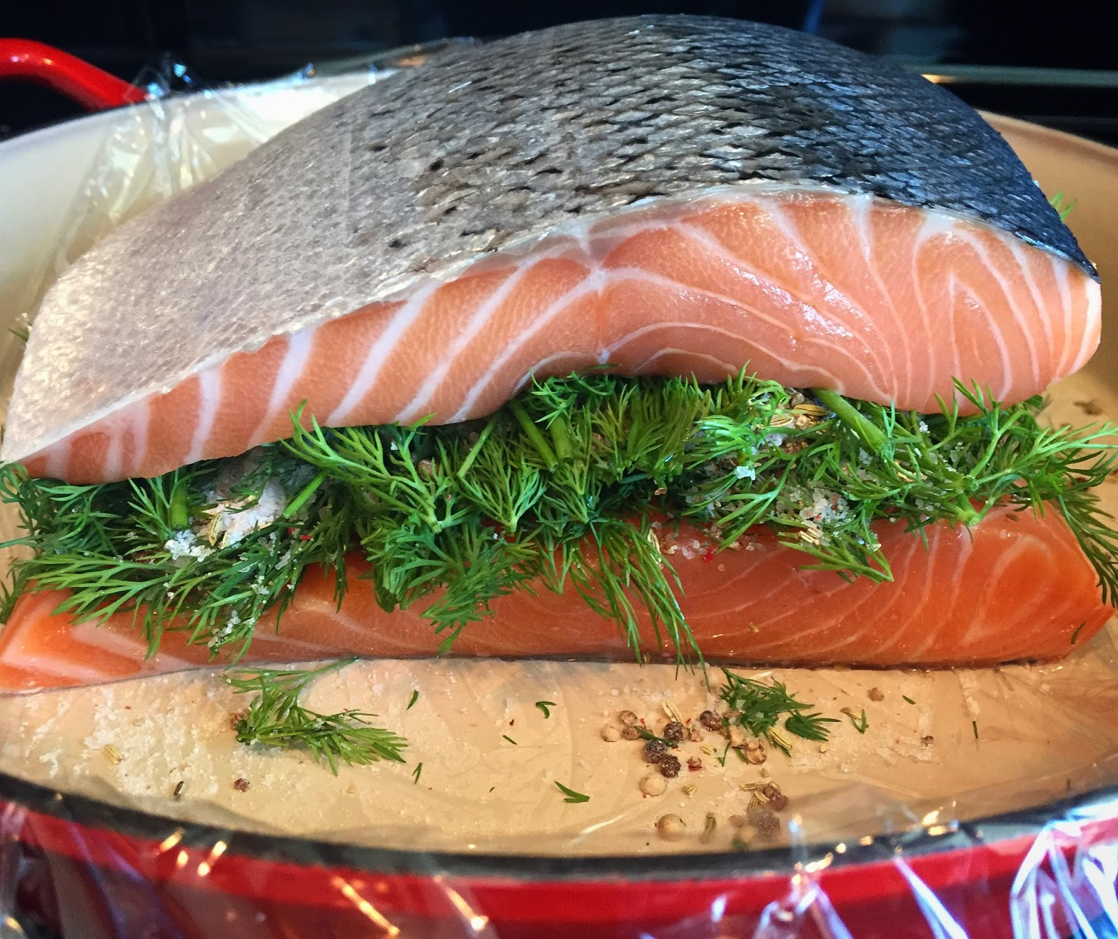 TheMDChef: Nordic Cured Salmon with Mustard Sauce