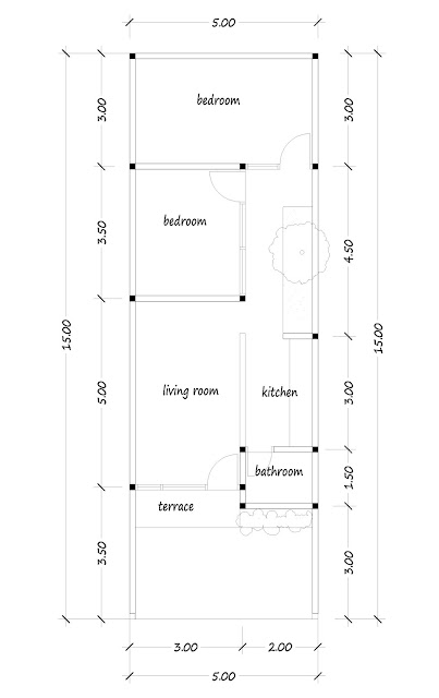 floor plan of narrow house 08