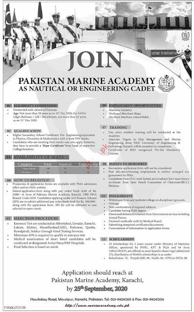 join-pakistan-navy-marine-academy-engineer-cadet-karachi-jobs-2020