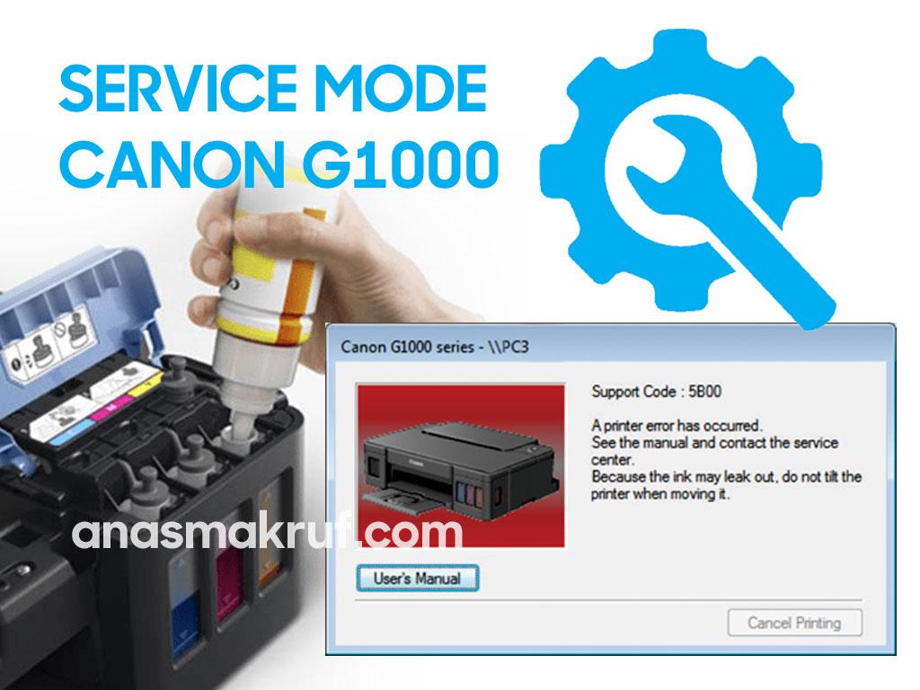 Cara Mereset Printer Canon G1000 G2000 G3000 yang mengalami Error