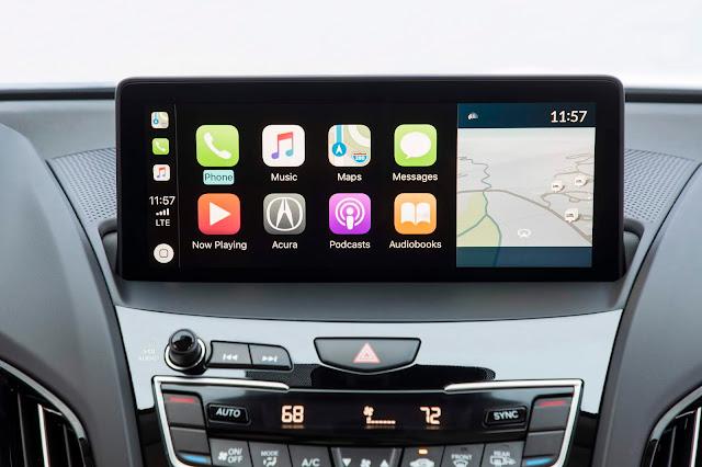 2019 Acura RDX entertainment interface showing Apple CarPlay