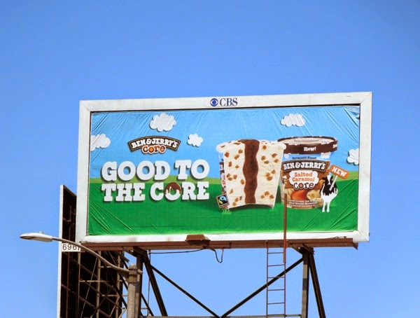 Ben Jerrys Salted Caramel Core ice-cream billboard
