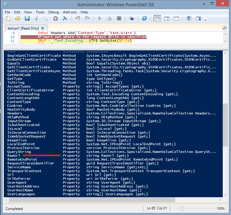 obscuresec: Dirty PowerShell WebServer