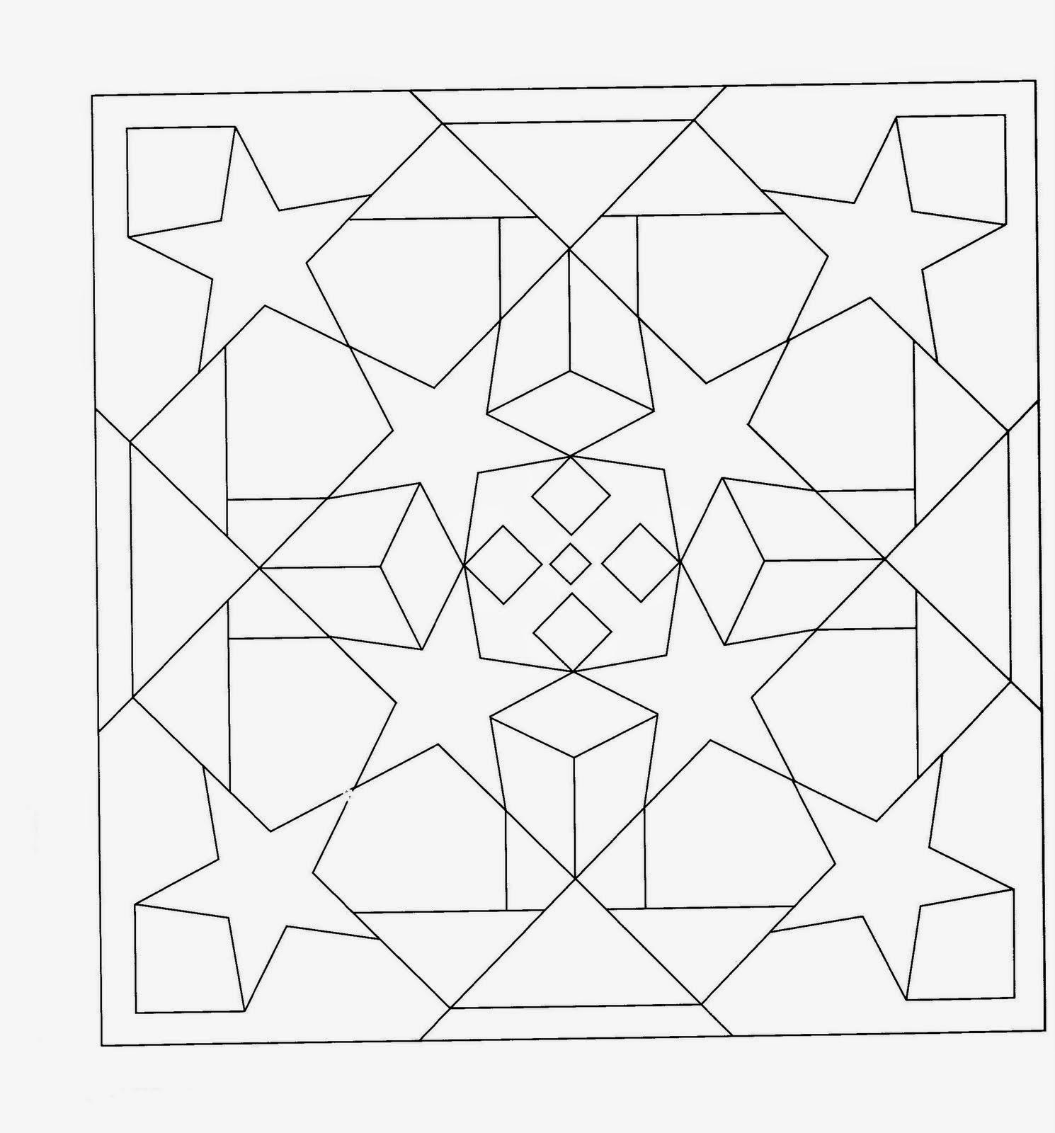 Dibujos Para Colorear Formas Geometricas
