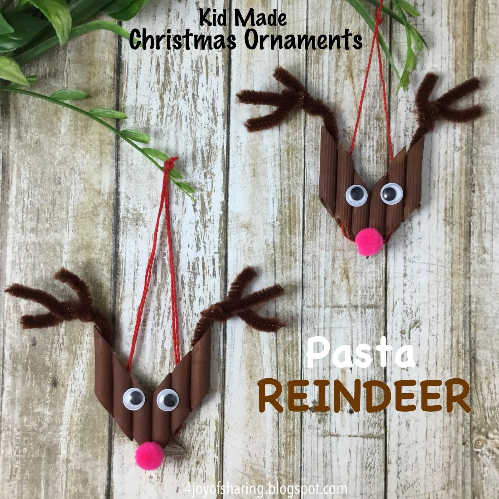 The Joy Of Sharing: Pasta Reindeer Christmas Ornament
