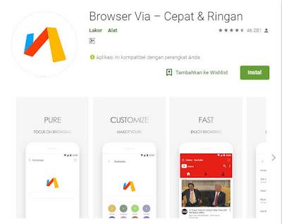 aplikasi browser ukuran terkecil saat ini di android