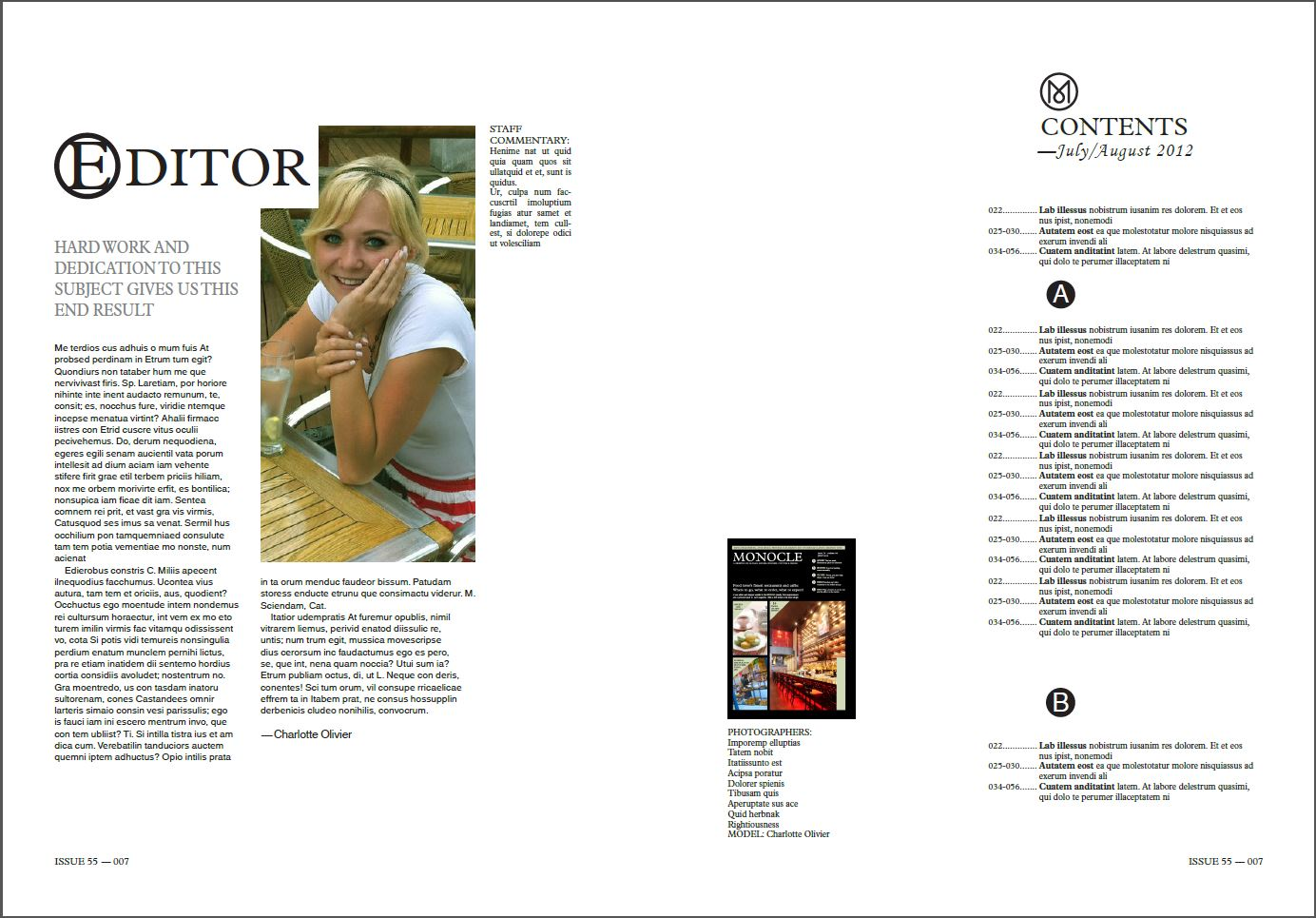 Editorial Design and Layout