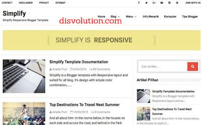 Template Terbaru 2017 Simplify Blogger Soe Responsive Download Gratis