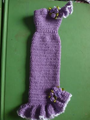 Barbie com vestido de crochet 7