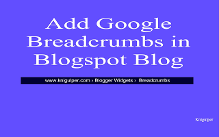 google breadcrumbs for blogger