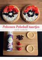 Pokemon Pokeball taartjes - snel en makkelijk
