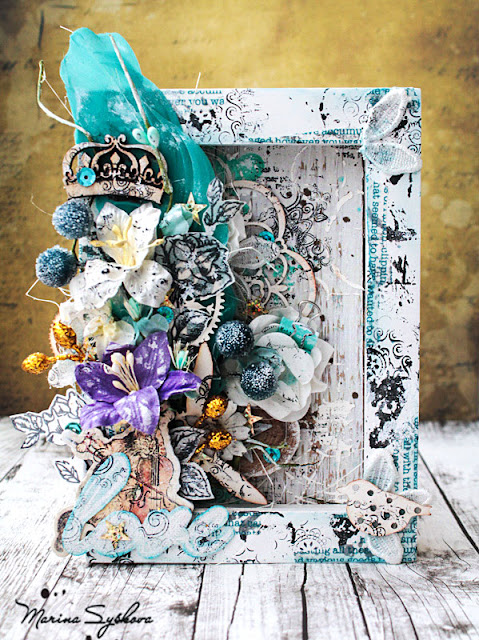 @marinasyskova #scrap #scrapbooking #alteredart #alteredframe #mixedmedia #primamarketing