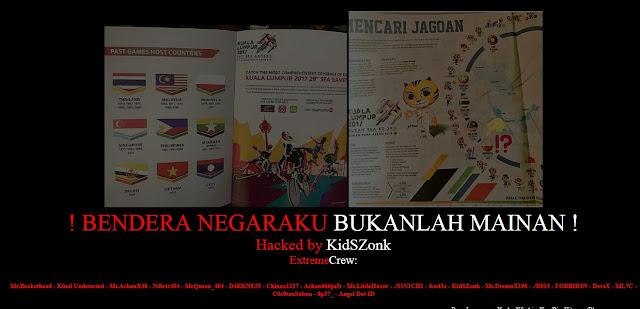 Bendera RI di Cetak Terbalik, 27 Situs Malaysia Diamuk Hacker Indonesia. Lihat Situsnya