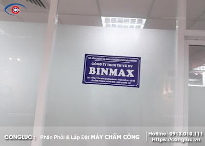 Hình ảnh lắp đặt máy chấm công tại công ty binmax hải phòng