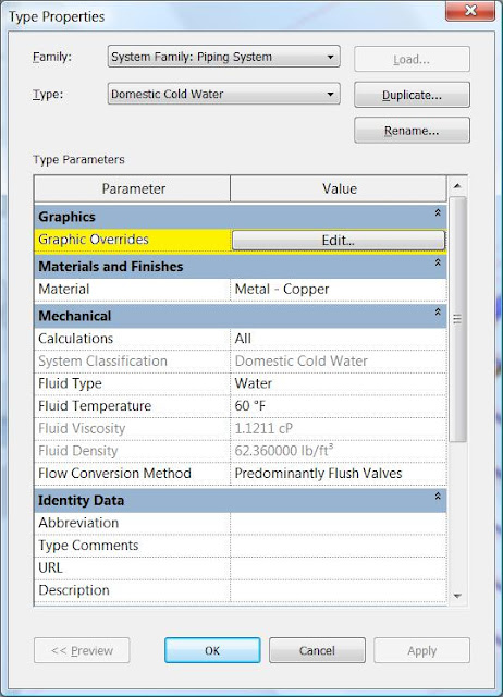 Visibility Graphics Overrides for Systems in Revit MEP 2012