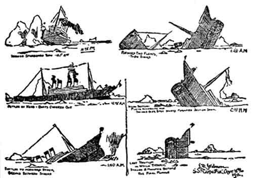 Sinking Titanic art