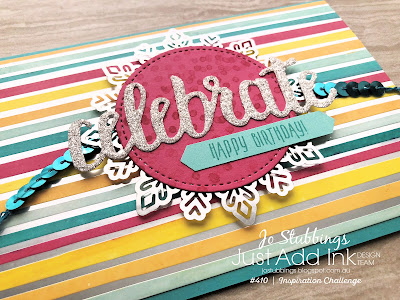 Jo's Stamping Spot - Just Add Ink Challenge #410 using Celebrate You Thinlits by Stampin' Up!