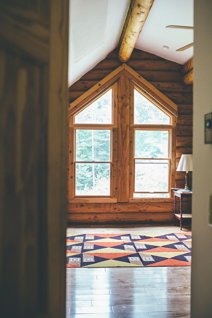 Log Cabin Home Tour: Master Bedroom