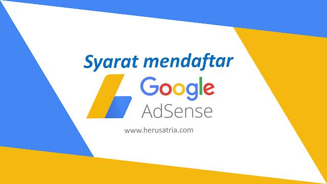 syarat mendaftar google adsense