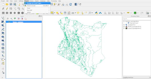 GENERATING DIGITAL ELEVATION MODELS FROM CONTOURS