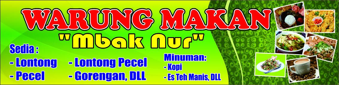 Contoh Banner Warung Makan Corel Draw Fart Desain