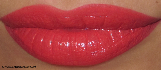 Pupa I'm Lipstick Review 208 Sunny Coral Swatch