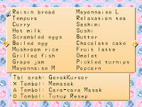 Daftar Lengkap Resep Masakan Harvest Moon Back to Nature