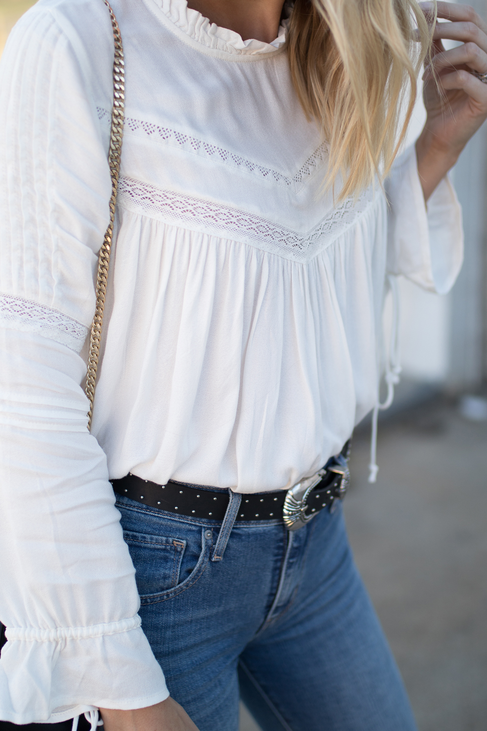 Detailed white top