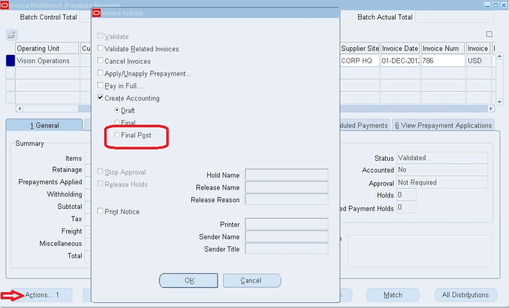 Form Personalization Disable Create Accouting u003e Final Post - create an invoice form