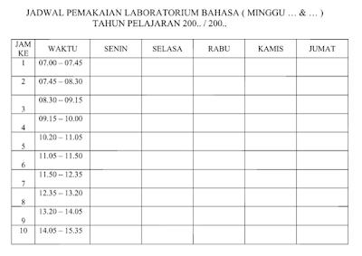Administrasi Lab Bahasa