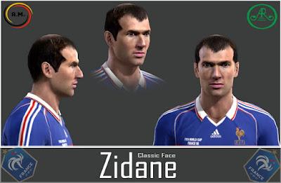 Pes 13 Zinedine Zidane Classic face by Alireza11