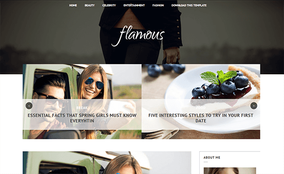 flamous template blogger