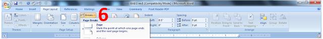 cara membedakan posisi halaman ms word