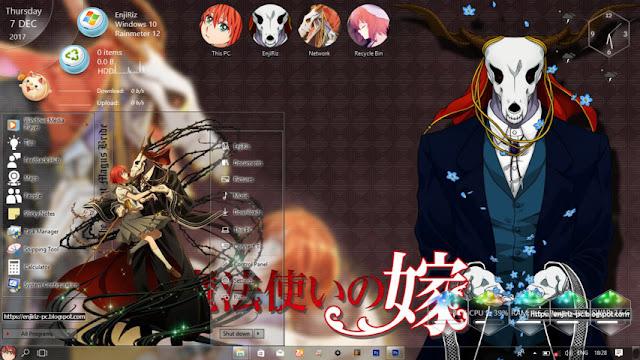 Windows 10 Ver. 1803 Theme Mahoutsukai no Yome by Enji Riz